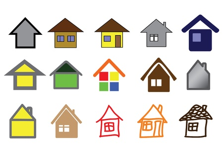 set of home icons illustration Stock Vector - 9448863