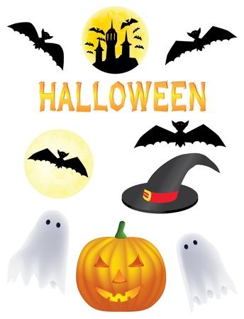 ghost face: clipart vettoriali di Halloween