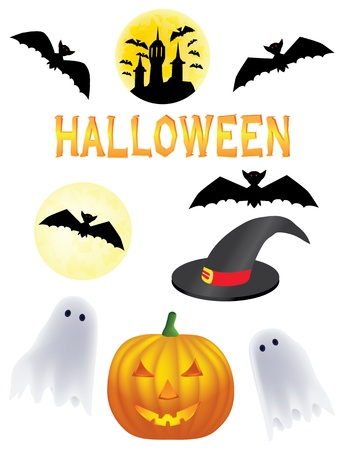 witch face: halloween vector clipart Illustration