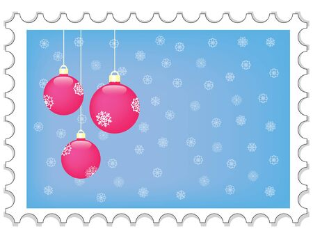 new year stamp illustration Vector