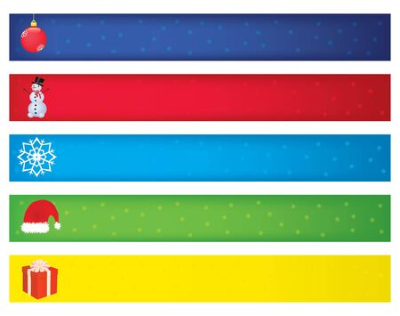 christmas banners vector illustration Vector
