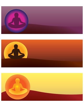 set of yoga illustrations Illustration