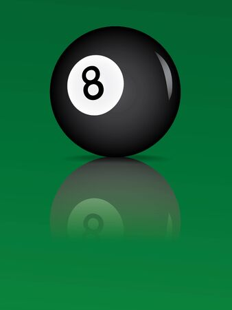billiard ball with reflection vector illustration Vector