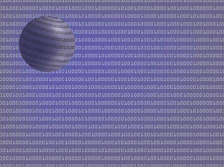 informatics: digital background with binary globe vector illustration