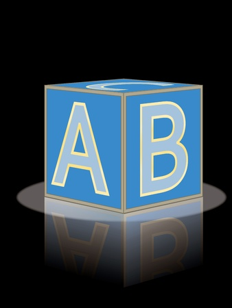 abc brick with reflection vector illustration Vector