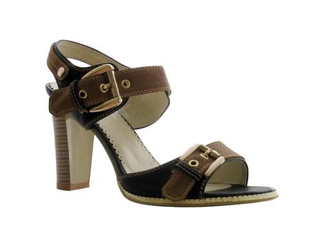 heel strap: slingback isolated on white