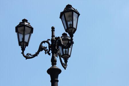 street lamp over blue sky Stock Photo - 9898798