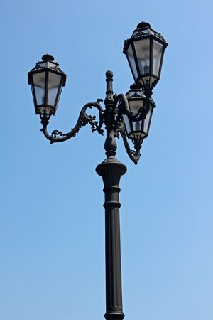 street lantern over blue sky Stock Photo - 9898799