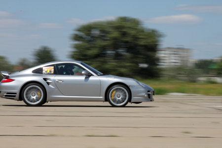 porsche 911 on a race,  ukrainian drag racing championship, 6 of august 2011 Stock Photo - 10185820