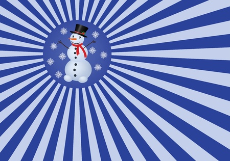 abstract background with snowman Vector