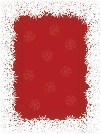 Fond de Noël avec des flocons de neige Banque d'images - 10719099