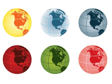 globe vector illustration - north america Stock Vector - 10875006