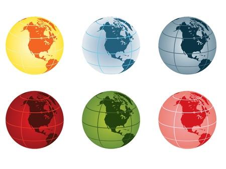 globe vector illustration - north america Stock Vector - 10875006