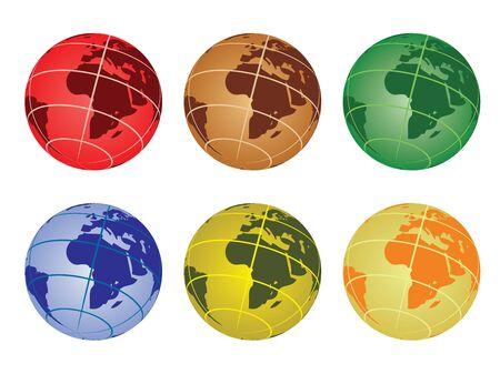 globe vector illustration - africa Stock Vector - 10875005