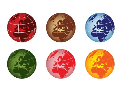 globe vector illustration - europe and africa Stock Vector - 10875009