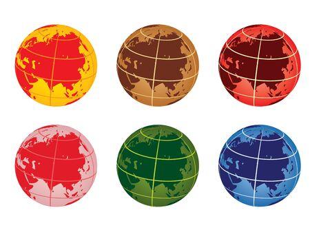 globe vector illustration - asia Stock Vector - 10875008
