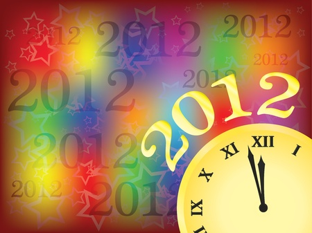 new year 2012 illustration Stock Vector - 10953981