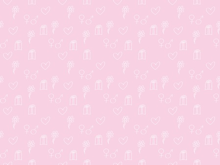 pink seamless vector background for Day of Valentine Stock Vector - 11806681