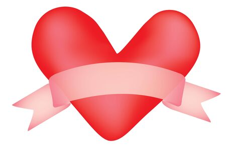valentine with banner scroll vector illustration Stock Vector - 11806688