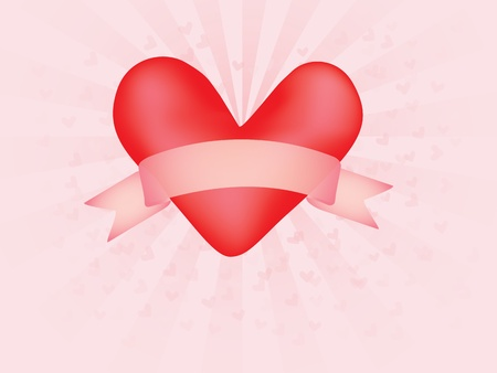 abstract vector background with valentine and  banner scroll Vector