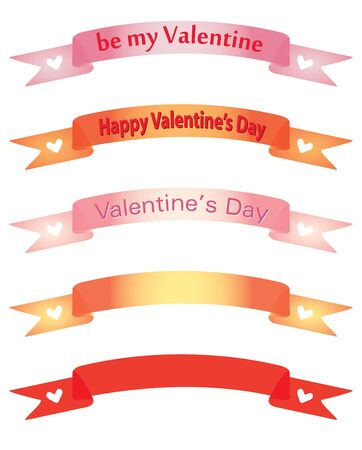set of banners for Day of Valentine Vector