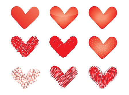 set of vector valentines Stock Vector - 11886176