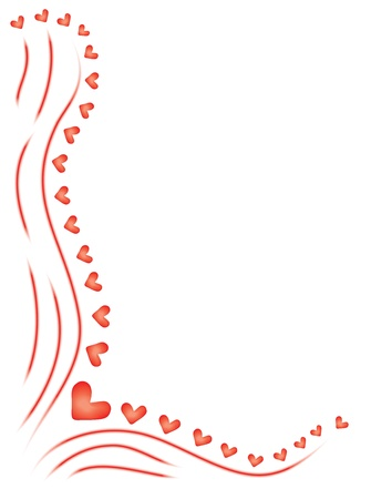 abstract vector background for Day of Valentine Illustration