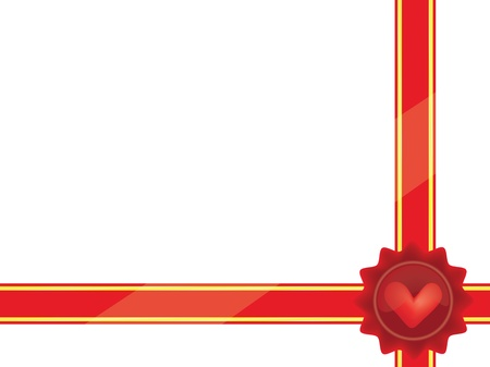wrapper with seal for Valentines Day gift  Vector