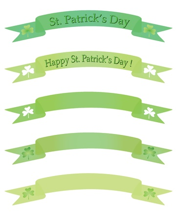 patrik day: set of vector banners for St. Pastricks Day Illustration