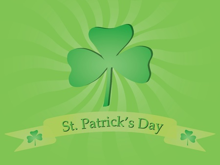 leafed: background with shamrock for St. Patricks Day