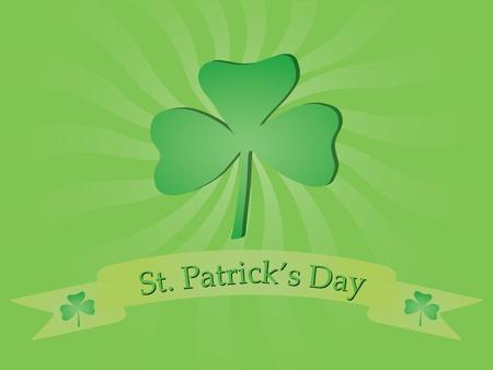 irland: Hintergrund mit shamrock f�r St. Patricks Day Illustration