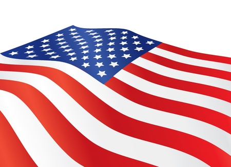 close up of United States of America flag illustration Vector