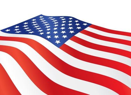 spojené státy americké: zblízka Spojených států amerických vlajky ilustrace