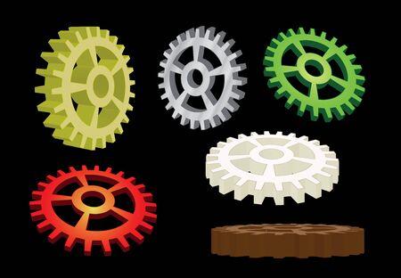 set of gears illustration Stock Illustration - 12077624
