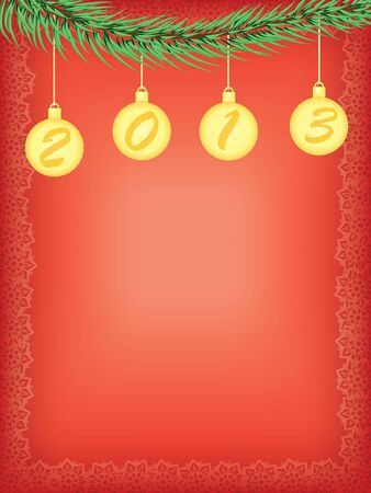 new year 2013 vector background Vector