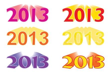 new year 2013 vector illustration Vector