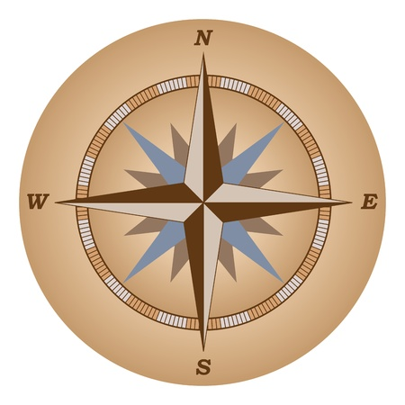 compass rose: retro compass: wind of rose vector illustration Illustration