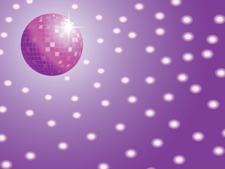 disco ball with lights vector illustration Vector