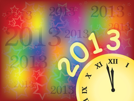 bright new year 2013 background vector illustration Stock Vector - 12203260