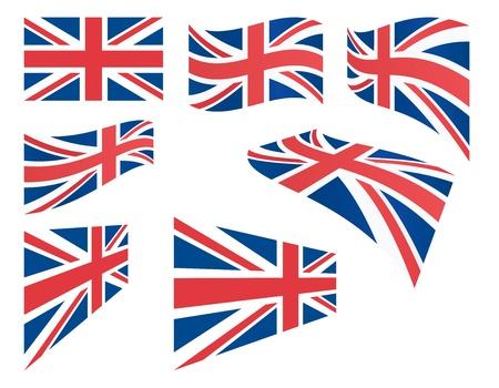 연합 왕국: 영국 플래그 벡터 일러스트 레이 션의 집합