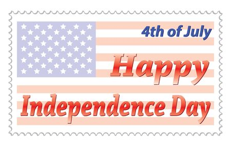 Happy Independence Day post stamp vector illustration Stock Vector - 12203291