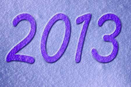 new year 2013 snow background photo
