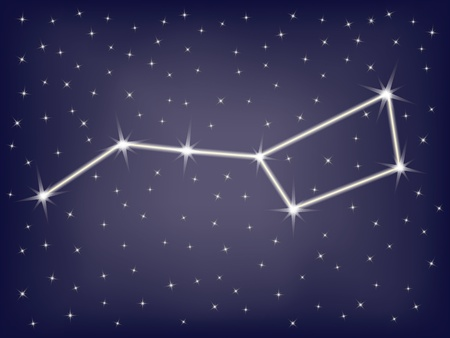 constellation Ursa Major  illustration Vector