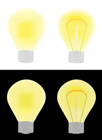 glower: set of electric bulbs illustration Illustration