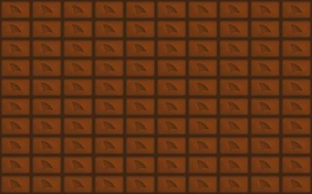 chocolate bar seamless background illustration Vector