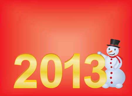 red new year 2013 background Vector