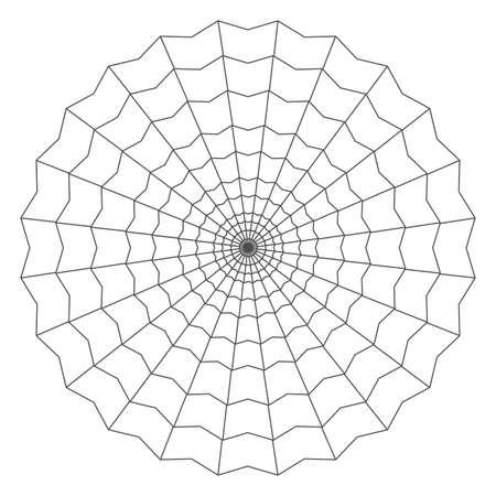 entrapment: cobweb isolated on white illustration Illustration