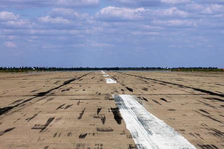 aerodrome: runway on aerodrome Stock Photo