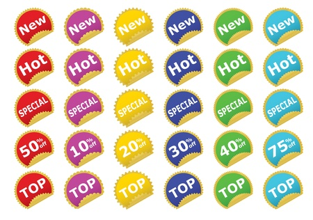 collection of color stickers illustration Stock Vector - 12837657