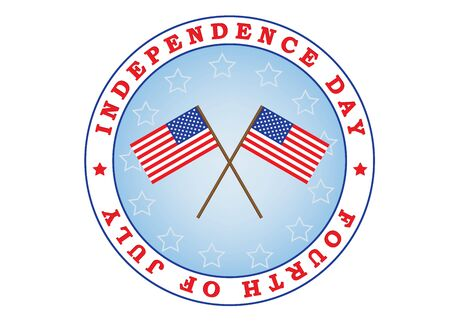 13: Independence Day sign with two flags illustration